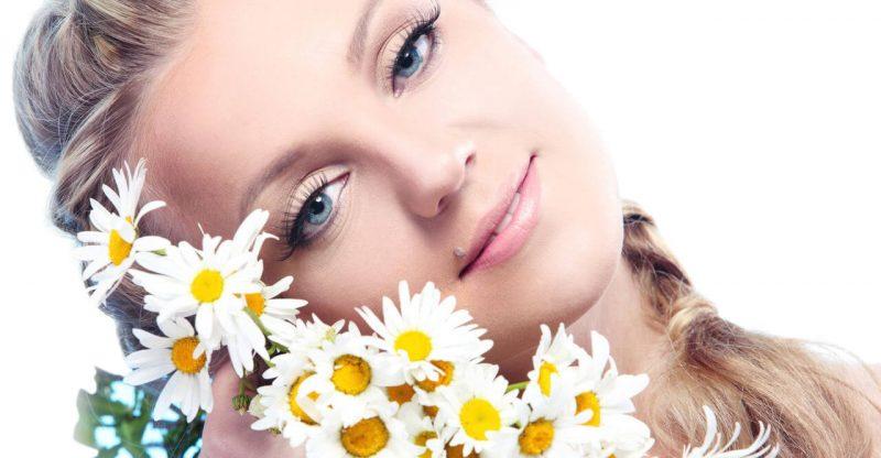 manzanilla para el acne
